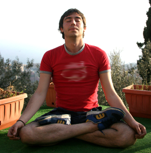 Yoga breathing to reduce stress